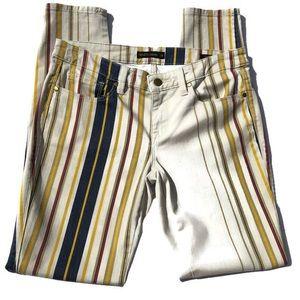 Genetic Denim Shya Striped Skinny Jeans SZ 28